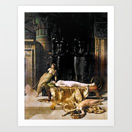 The Death Of Cleopatra Art Print