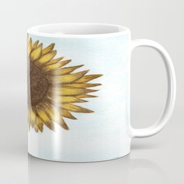 The Colored Pencil Sunflower Drawing Coffee Mug