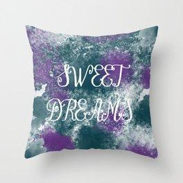 Sweet Dreams Paint Splatter Throw Pillow