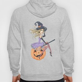 Beautiful Witch on The Pumpkin Hoody