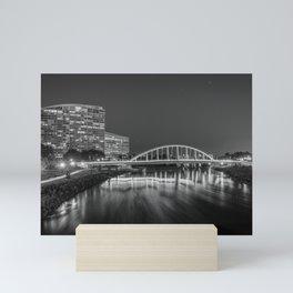 The Main Street Bridge B&W Mini Art Print