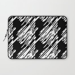 Black & White Scribble Pattern Laptop Sleeve