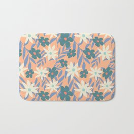 Just Peachy Floral Bath Mat