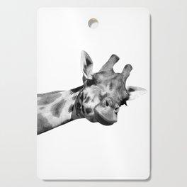 Black and white giraffe Cutting Board