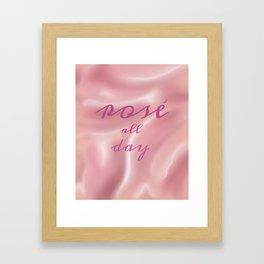 Rose' All Day - Wine Walk Trip Framed Art Print