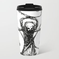 Evil Priest with two pills Metal Travel Mug