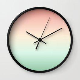Apricot Green Gradient Wall Clock
