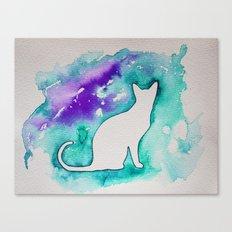 Turquoise cat Canvas Print