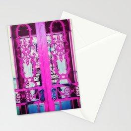 Ornate Iron Gate Pink Stationery Cards