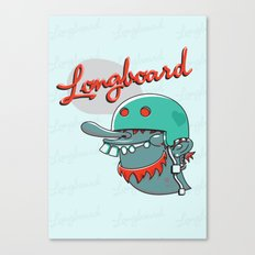 Longboard Canvas Print