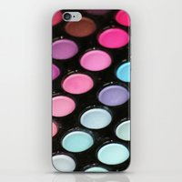 makeup iPhone & iPod Skins featuring Makeup by Ink and Paint Studio