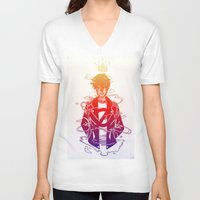 prince V-neck T-shirts featuring Prince by Lance Phillips