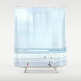 50 shades of blue #1 Shower Curtain