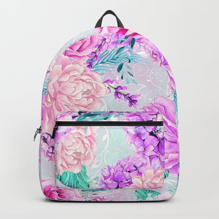 Floral Ice Cream 07 Backpack