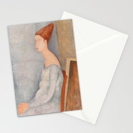 Portrait of Jeanne Hebuterne by Amedeo Modigliani, 1918 Stationery Cards