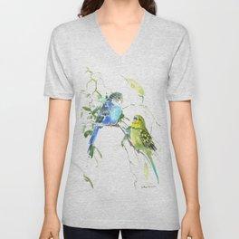Parakeets, budgies pet bird home decor Unisex V-Neck