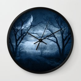 A Dark & Foggy Night Wall Clock