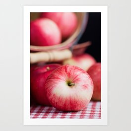 Organic Apples 1 Art Print