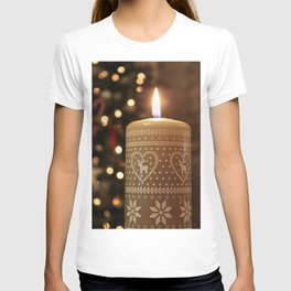 Christmas candle vertical T-shirt