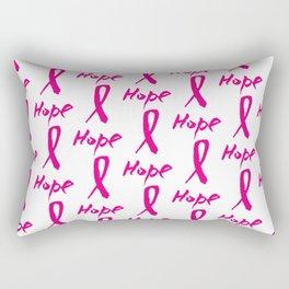 Vector watercolor pink ribbon - breast cancer awareness symbol Rectangular Pillow