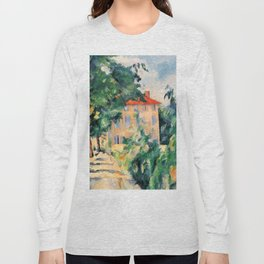 "Paul Cezanne ""House with red roof"", 1890 Long Sleeve T-shirt"