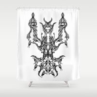 namaste Shower Curtains featuring namaste by kumpast