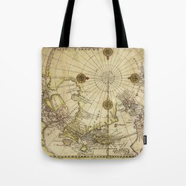 Map Of North Pole 1800 Tote Bag