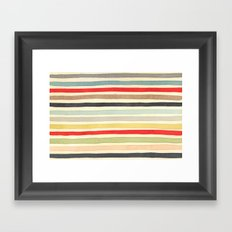 Stripes Watercolor Paint Robayre Framed Art Print