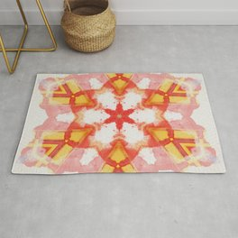 light your fire mandala star Rug