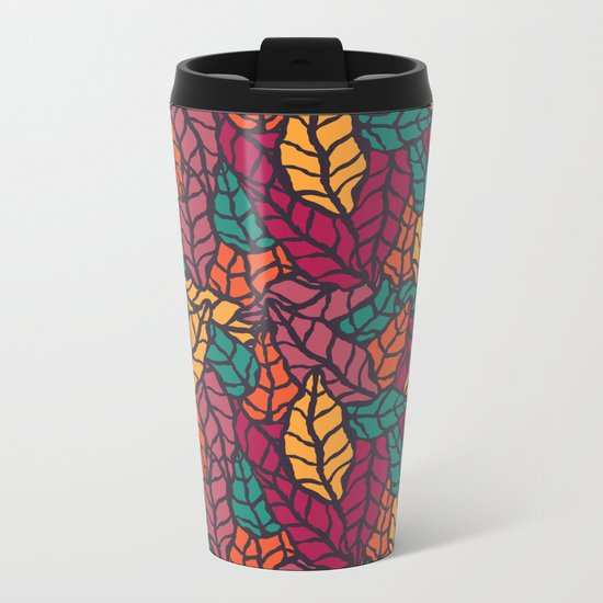 Nature leaves 005 Metal Travel Mug