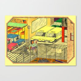 Taxis & diamonds Canvas Print