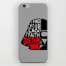 I Find Your Lack of Faith Disturbing iPhone & iPod Skin