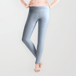 Pale Blue And White subtle pattern Leggings