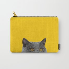 British Short-haired Cat Saffron Yellow Home Decor Pet Lovers Art Grey British Carry-All Pouch