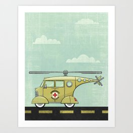 Atomic County Search and Rescue Art Print