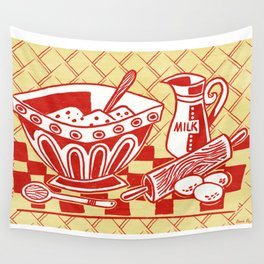 Mixing Up Something Good In The Kitchen Wall Tapestry