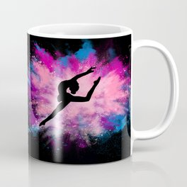 gymnast dancer colour splash Coffee Mug