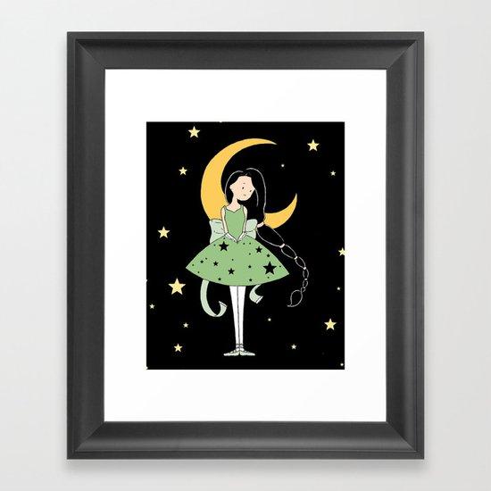 Moonlight Ballerina Framed Art Print