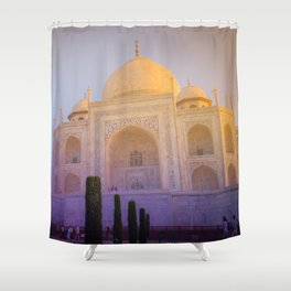 Morning Colors over Taj Mahal Shower Curtain
