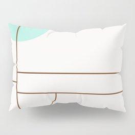 Balm 01 // ABSTRACT GEOMETRY MINIMALIST ILLUSTRATION Pillow Sham