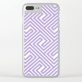Abstract modern geometrical ultraviolet white key pattern Clear iPhone Case