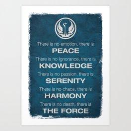 The Jedi Code Art Print