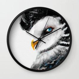 Tattooed Lady Owl Wall Clock