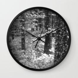 black and white magic II Wall Clock