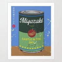 Castle in the sky - Miyazaki - Special Soup Series  Art Print