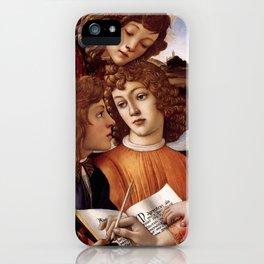 Sandro Botticelli - Angels 3. detail iPhone Case
