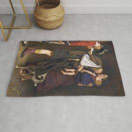 John Everett Millais - The Order of Release Rug