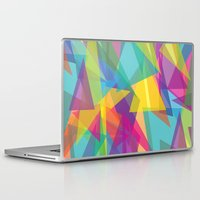 transparent Laptop & iPad Skins featuring Transparent Triangles by AleyshaKate