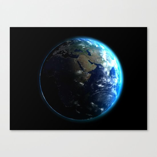 Dark Side of the Earth Canvas Print