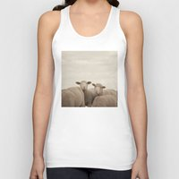 sheep Tank Tops featuring Smiling Sheep  by Laura Ruth